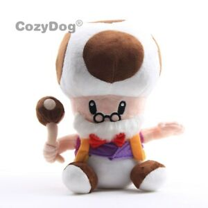 Super-Mario-Bros-Plush-Toy-Toadsworth-Toad-10-034-Stuffed-Animal-Soft-Doll-Figure