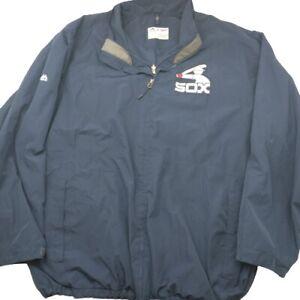 Majestic Chicago White Sox Men's 4XL Blue Zip Up Windbreaker Jacket MLB