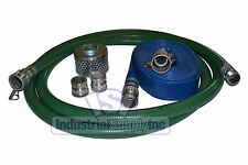 3 Green Pvc Fcam X Mp Suction Hose Trash Complete Kit With50 Discharge Hose Fs