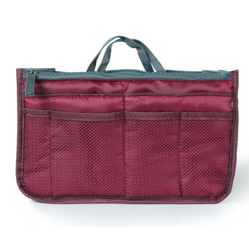 1//2 Women Pocket Large Travel Insert Handbag Tote Organizer Tidy Bag Purse Pouch