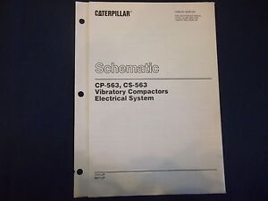cat caterpillar cp 563 cs 563 compactor electrical schematic manual cat dozer blades image is loading cat caterpillar cp 563 cs 563 compactor electrical