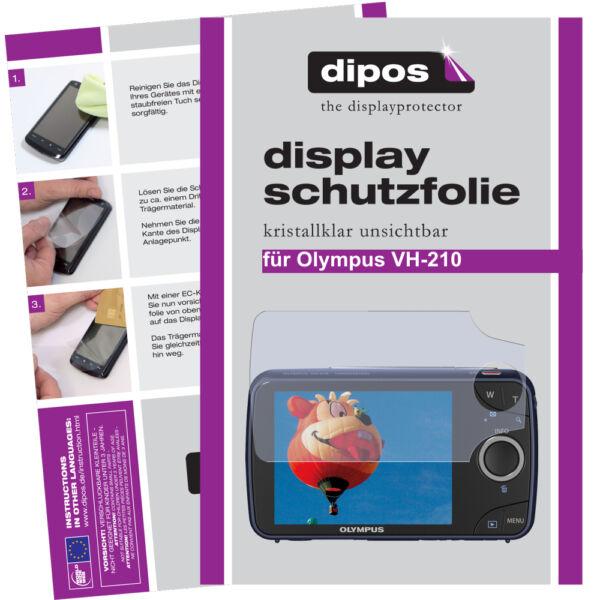 2x Olympus Vh-210 Film De Protection D'écran Protecteur Cristal Clair