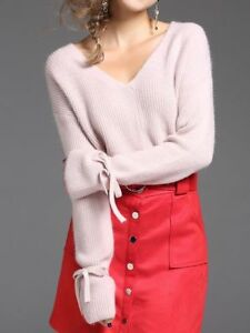 Sweatshirt 4335 Rosa Pullover Kurzes Kleid Kurz Weich Jersey Maxi Komfortabel ZxUHEvUwq