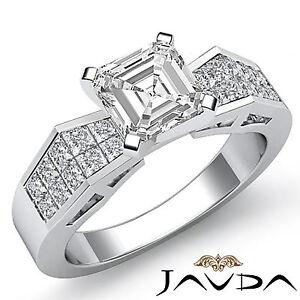 Elegante-Asscher-Diamante-Invisible-Anillo-de-Compromiso-GIA-i-VS2-14k-Oro