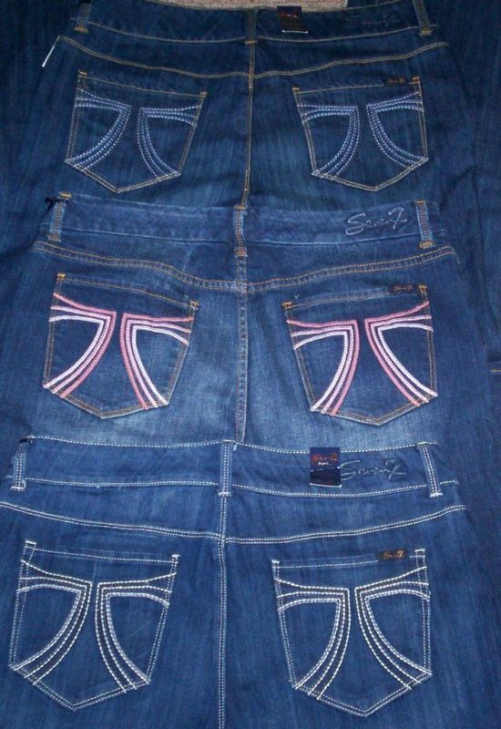 NWT SEVEN 7 EMBROIDERED BOOT CUT DENIM JEANS SZ 14 16 18