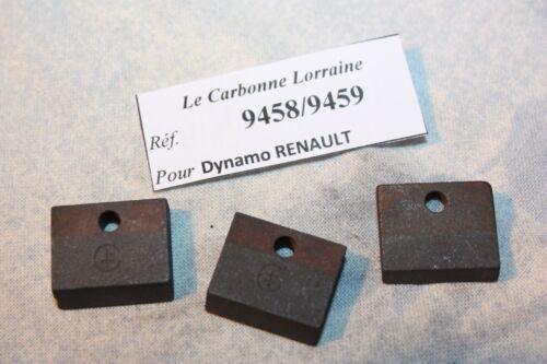 CHARBONS 9458//9459 POUR DYNAMOS RENAULT...POUR RENAULT JUVA 4 BERLINE UTILITAIRE