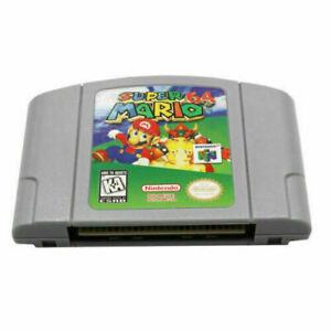 Super Mario 64 para la consola de video juego Cartucho Nintendo N64 versión de tarjeta