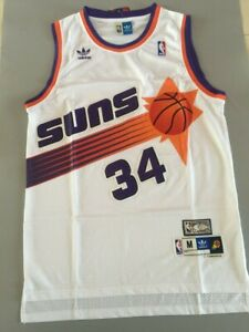 innovative design 8f927 ecbba Details about NWT Phoenix Suns Charles Barkley White Throwback Swingman Men  Jersey Size S-XXL
