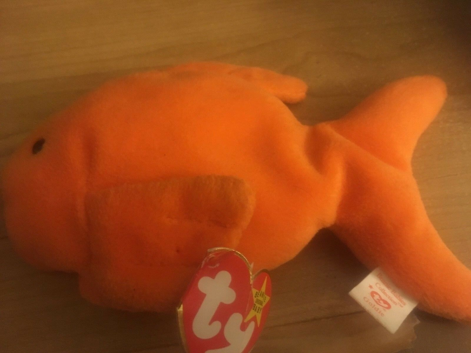 goldie spike beanie baby with tag errors