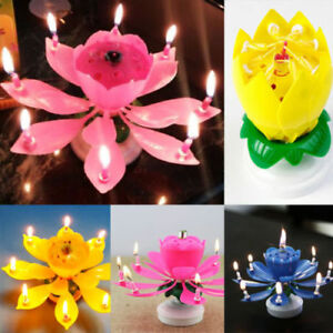 Image Is Loading Magical Flower Happy Birthday Blossom Lotus Musical Candle