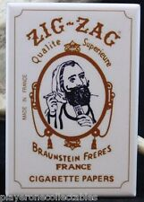 "Zig Zag Man - 2"" X 3"" Fridge / Locker Magnet. Tobacco Marijuana Cannabis"