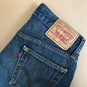 Levi-514-Jeans-Straight-Zip-Fly-blue-Vintage-Herren-Patchw-29l32-W-29-L-34