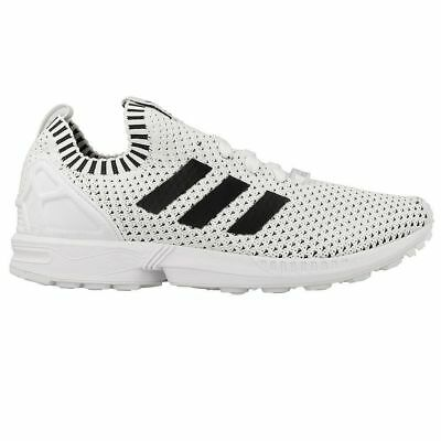 big sale ce2c5 bec05 [BA7374] MEN'S ADIDAS ZX FLUX PRIMEKNIT TRAINING RUNNING WHITE BLACK NIB  9.5-14 | eBay