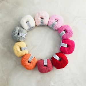 100-Extra-Fine-Merino-4ply-yarn-knitting-crochet-gift-set-CANDY-10x50g-Oeko-Tex