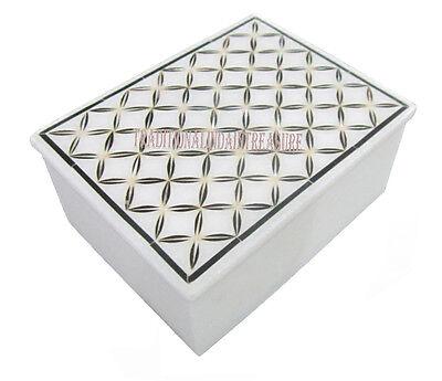 """6/""""x4/""""x3/"""" Marble Malachite Jewelry Storage Box Marquetry Inlay Gems Decor Gifts"""