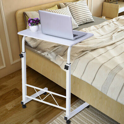 Height Adjule Rolling Laptop Desk Hospital Table Cart Over Sofa Bed Stand Us Ebay