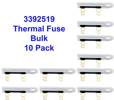 Sears Dryer Thermal Fuse for Whirlpool 3392519 25 Pack