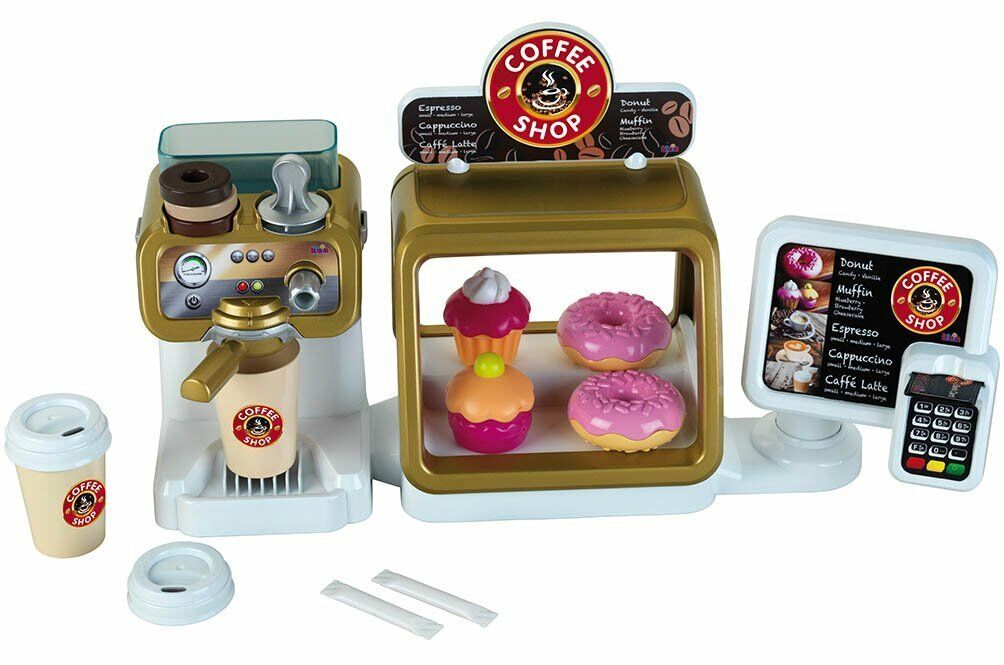 Coffee Shop Playset Toys With Sounds And Accessories