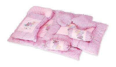 De Lujo Bonito Floral 7 Piezas Jumbo Juego De Cama//Cuna Set para bebés o Blanke de bebé