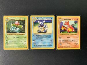 Charmeleon-Ivysaur-Wartortle-Base-Set-Shadowless-Pokemon-Cards-EXC