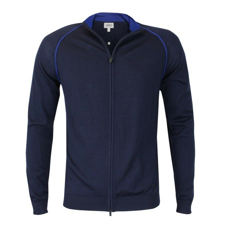 Armani Collezioni - Navy Full Zip Cardigan - EU48   S NEW WITH TAGS