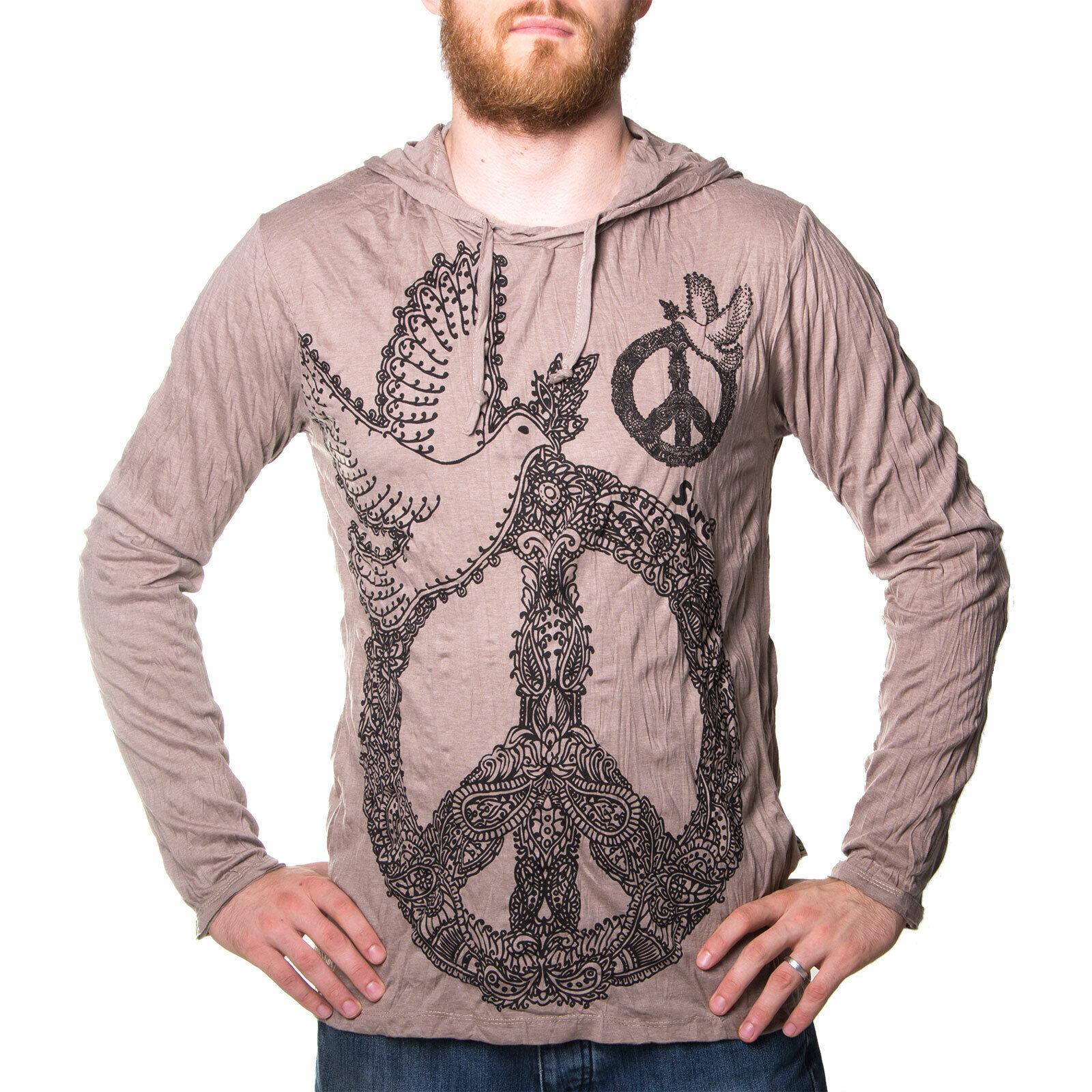 Kunst und Magie Sure Hoody Kapuzen Shirt Peace mit Friedenstaube
