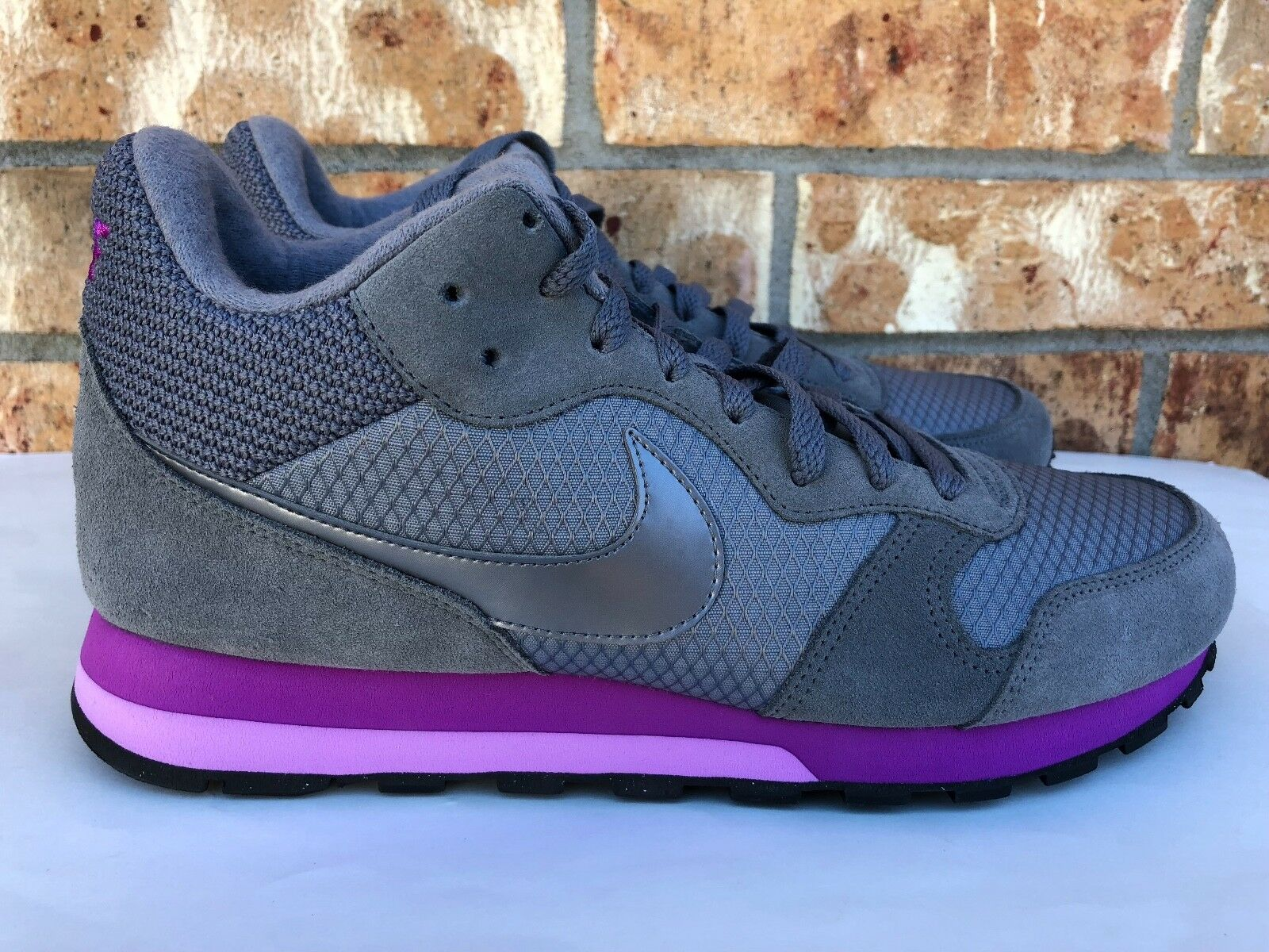 Women's Nike MD 2 Running Shoes Grey Purple Silver Black Size 10 807172-005