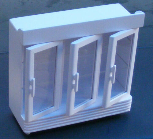 Échelle 1:12 Peint En Blanc 3 Porte Affichage Cooler tumdee maison de poupées miniature magasin