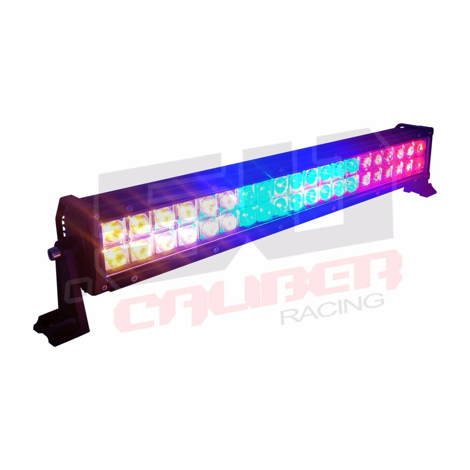 "22"" LED Bar Red Blue Amber Waterproof for Polaris UTV Truck Rock Crawling Towing"