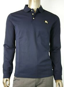 Burberry Homme Coton Marine Polo Manches