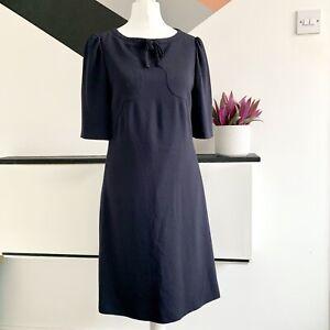 Hobbs-Kleid-Groesse-8-dunkelblau-Smart-Anlass-Hochzeit-Kreuzfahrt-Rennen-Buero-Arbeit