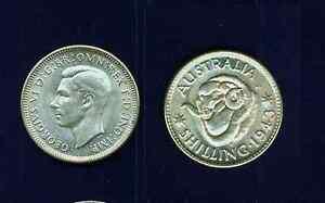 AUSTRALIA-GEORGE-VI-1943-S-1-SHILLING-SILVER-COIN-BRILLIANT-UNCIRCULATED