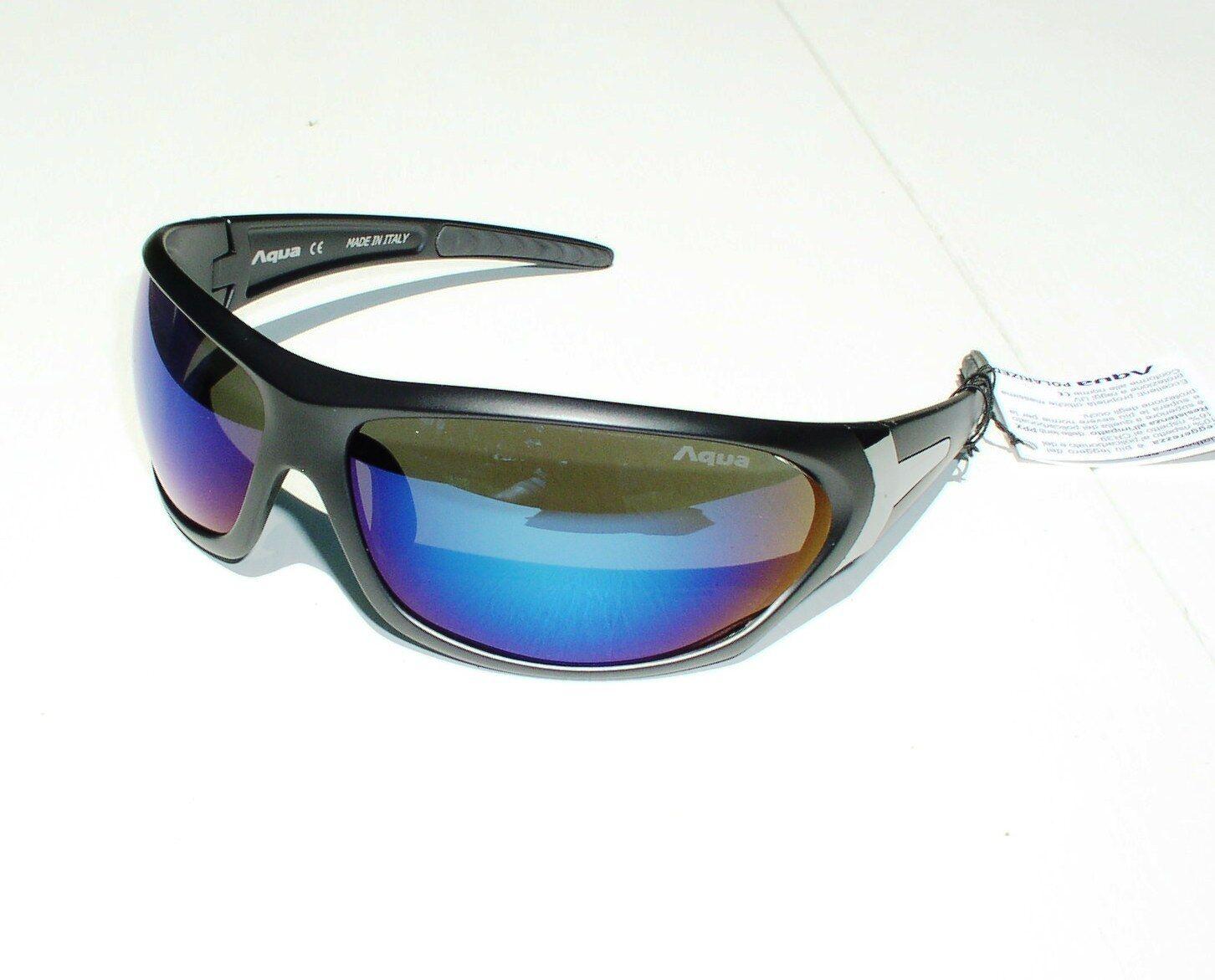 Aqua Polarisationsbrille MAKO in Dark Grey, Glasfarbe blue, Sonnenbrille