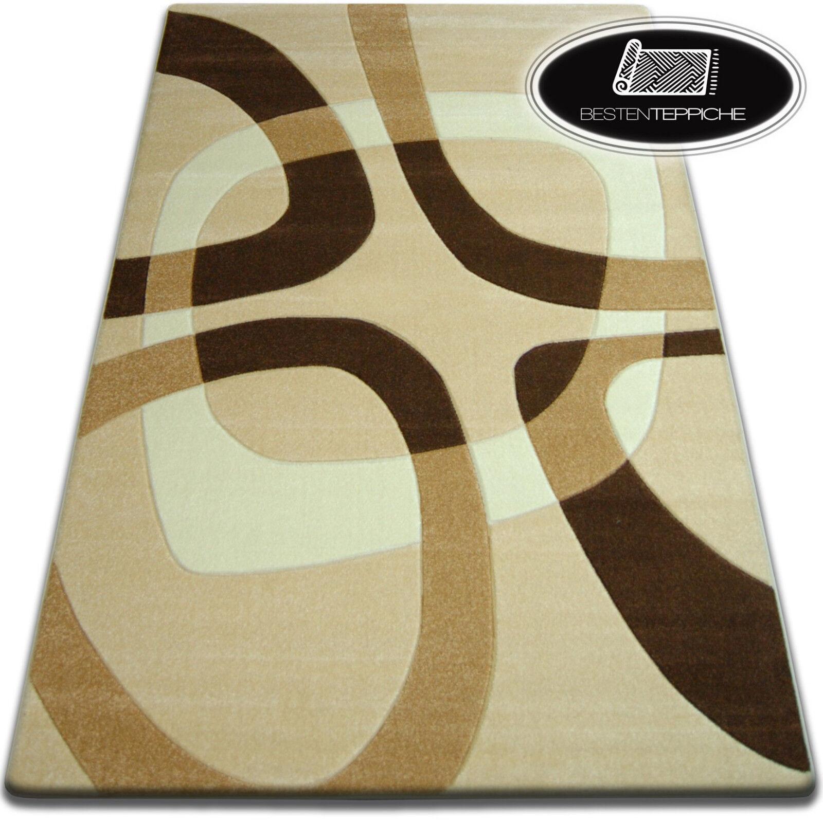 Trasla Coloreeei 10 dimensioni Modern astratto morbido tappeto FOCUS f242 aglio Top