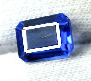 Blue Tanzanite Loose Gemstone Pair 11-13 Carat Natural Octagon Cut AGI Certified