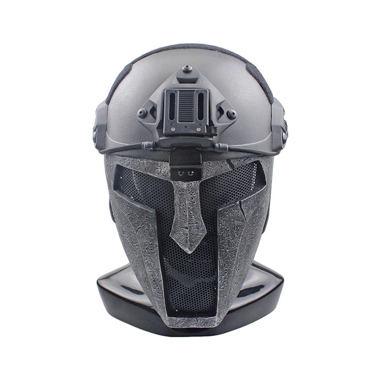 NEW Wire Mesh Glass Fiber Fiber Fiber Resin Airsoft CS Half Face Sparta Mask For Helmet M121 dcb1c0