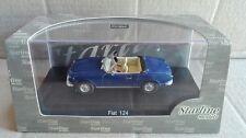"""DIE CAST """" FIAT 124 SPIDER BLUE """" STARLINE SCALA 1/43"""