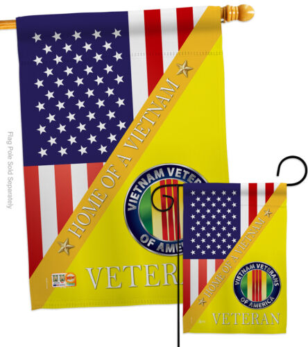 Home of Vietnam Garden Flag Armed Forces Service Decorative Yard House Banner
