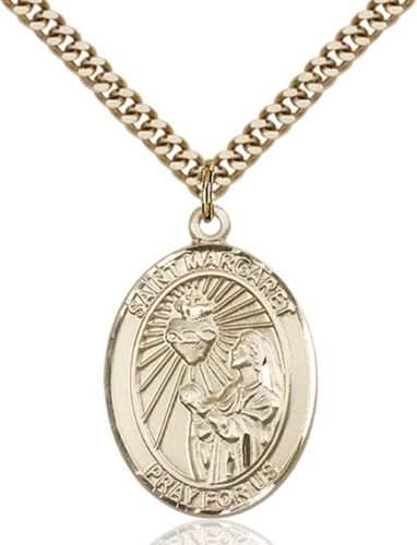 1 in 14KT GOLD FILLED catholique Saint Margaret Mary Alacoque médaille environ 2.54 cm