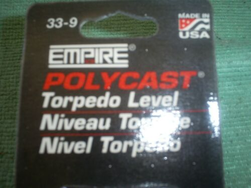 """2 pieces 9/"""" Torpille Niveau POLYCAST EMPIRE made in USA 3 flacons.."""