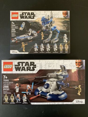 LEGO Star Wars75283 Armored Assault /& 75280 Clone Troopers Lot Of 2 Ashoka HTF