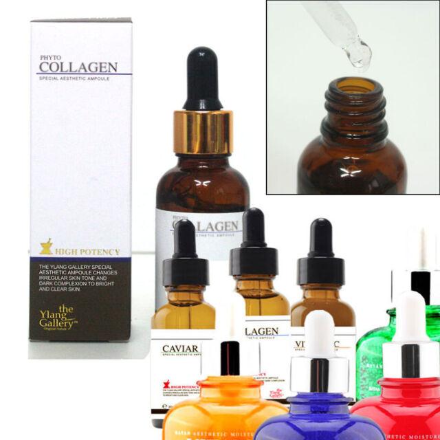 ALOE,CAVIAR,HYALURONIC,Collagen,Coenzyme Q10,Vitamin ampoule serum 30ml /Korean
