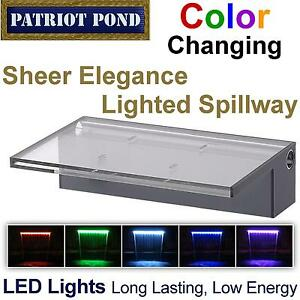 color changing patriot sheer elegance led lighted spillway. Black Bedroom Furniture Sets. Home Design Ideas