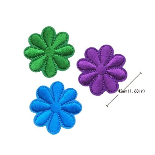 Colorful Sunflower Sew on//Iron on Embroidered  Patch Diy Craft Clothes Applique