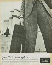 PUBLICITE ADVERTISING 115  1965  PRESTIL 2 fermetures éclair JOHN CLARK agent sp
