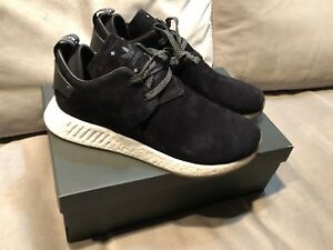 the best attitude b228c 27629 Image is loading Adidas-NMD-Chukka-C2-Suede-Core-Boost-Black-