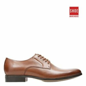 Clarks CONWELL PLAIN Brown Mens Lace-up Dress/Formal Leather Shoes
