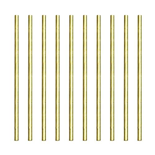 Eowpower 2pcs Solid Brass Round Rods Lathe Bar Stock 3//16 inch Diameter 12 inch