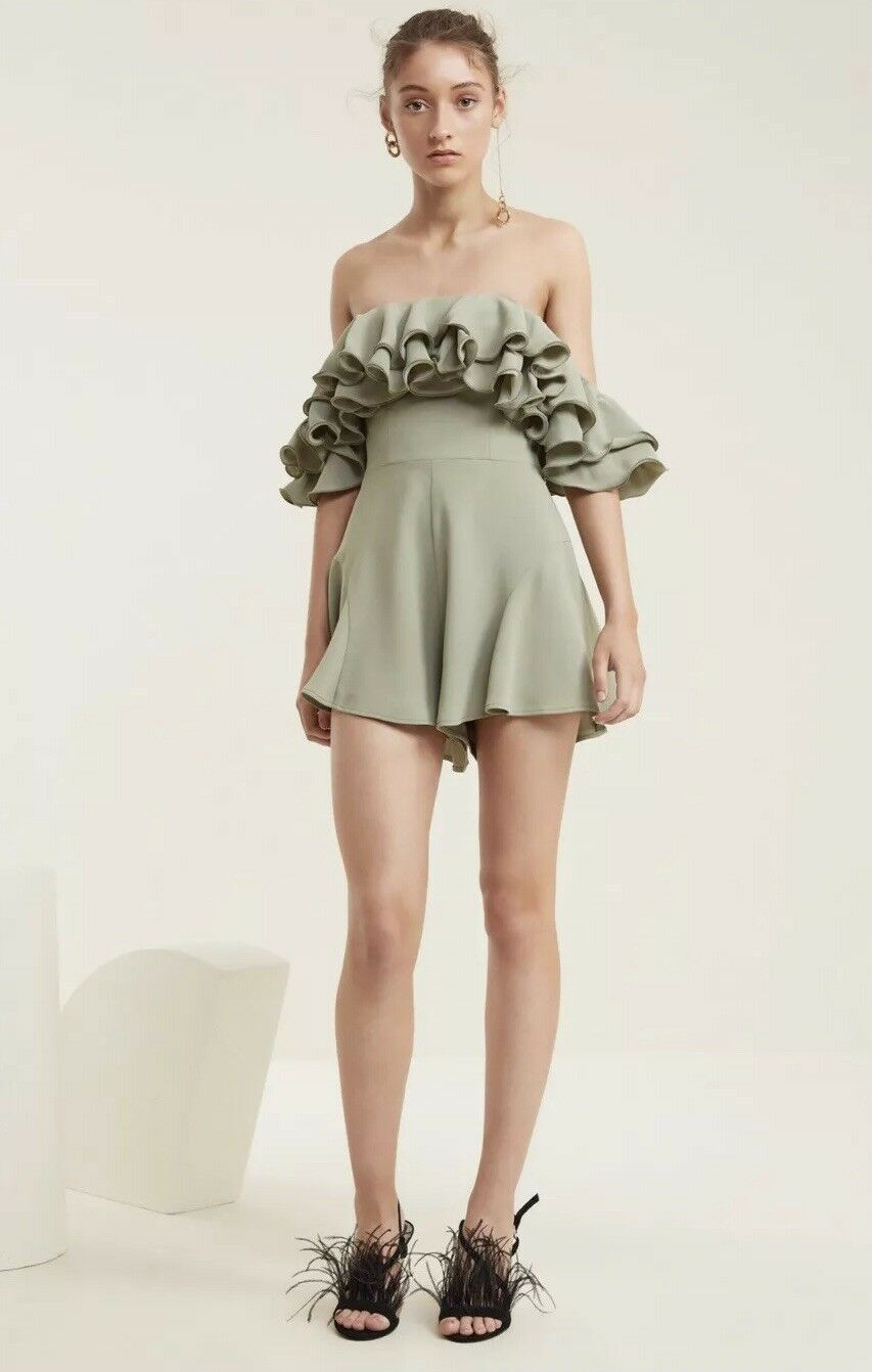 NWT C MEO COLLECTIVE IMMERSE PLAYSUIT SIZE SMALL SAGE GREEN