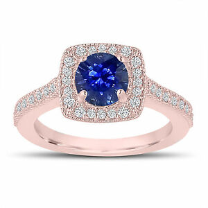 1-28-Carat-Sapphire-Engagement-Ring-Wedding-Ring-14K-Rose-Gold-Halo-Pave